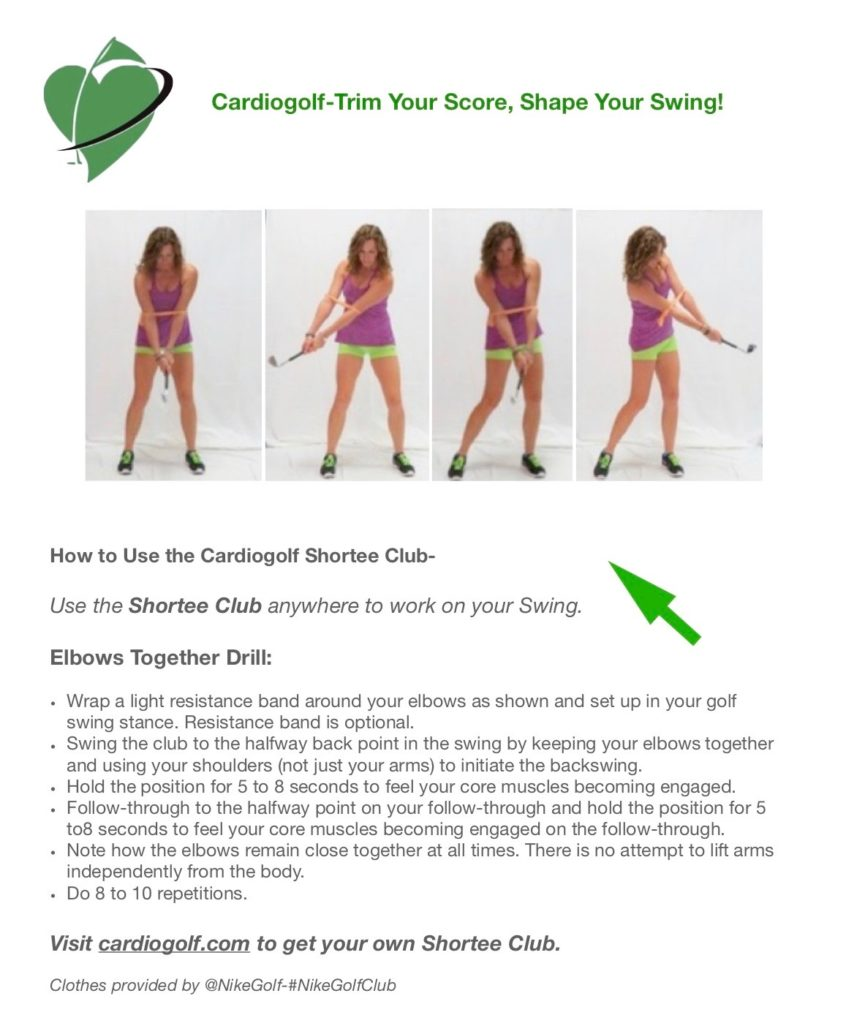 Cardiogolf Elbows together Drill