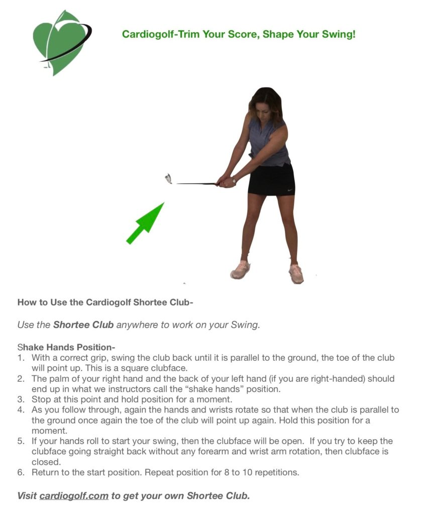 Cardiogolf Shake Hands Position
